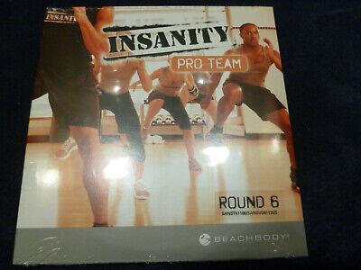 BRAND NEW Insanity Pro Team Beachbody Workout  CD + DVD  Round 6 Factory Sealed