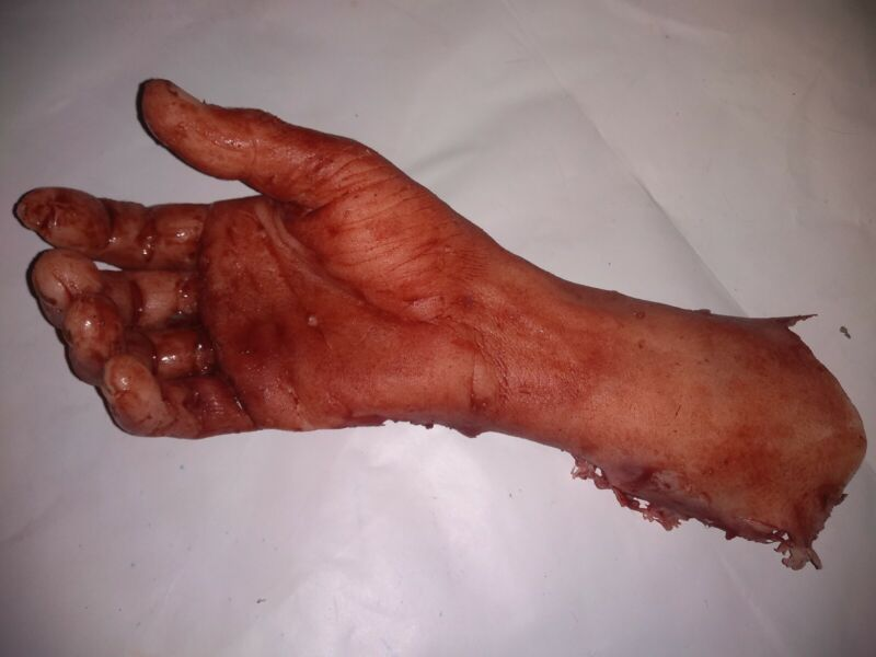 Silicone HORROR PROP severed mutilated male arm movie quality gore halloween fx