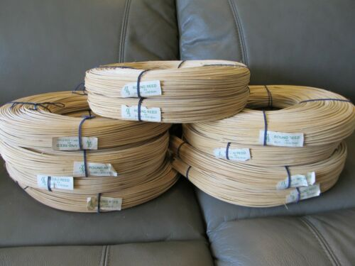 CR#3 ROUND Basket Reed, 2.25MM full rolls, CBS, New Old Stock