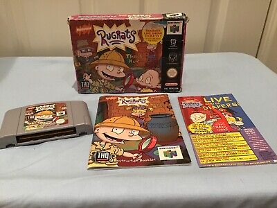 N64 Rugrats Treasure Hunt PAL Boxed With Instructions