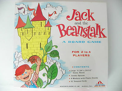 VINTAGE JACK AND THE BEANSTALK A BOARD GAME NEW SEALED IN PLASTIC -WINTHROP TOYS