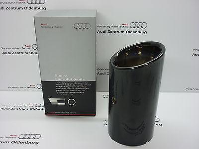 Original Audi Endrohrblende /Auspuffblende Audi A1 /Audi A3, schwarz/chrom