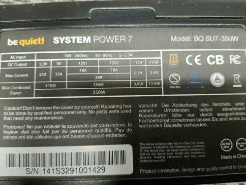Be quiet ATX Netzteil  - 350 Watt