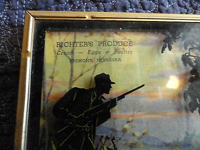 """947 """"Richter's Produce, Fremont, Nebraska"""" Silohouette Adv. Thermometer Calendar"""