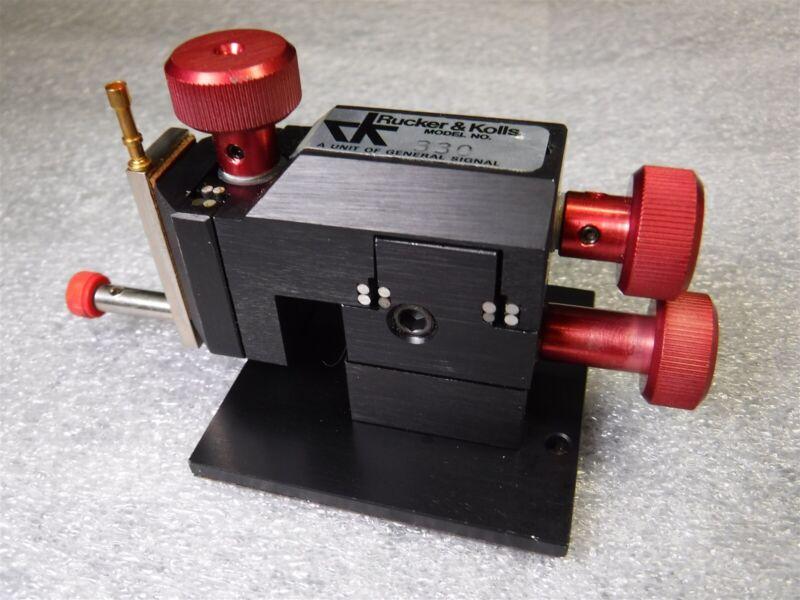 New Rucker Kolls 330 Probe Micro Positioner Micromanipulator U10