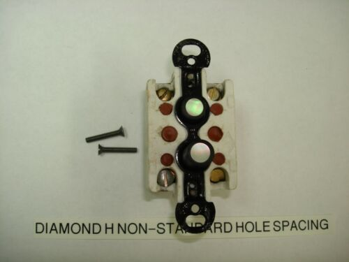 Vintage Push Button 3 Way Light Switch Diamond H Non-Standard Hole Spacing