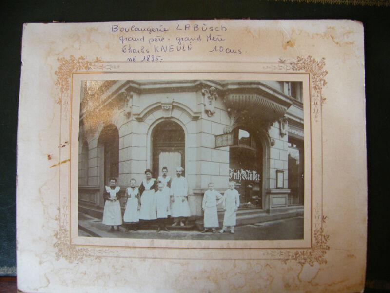""" Photography Saarbrücken Sarrbrucken Bakery Labush 1905 Fritz Muller """