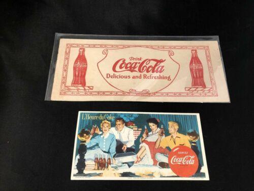 Coca-Cola 30's / 40's Ink Blotters Lot of 2 Vintage  (M2)