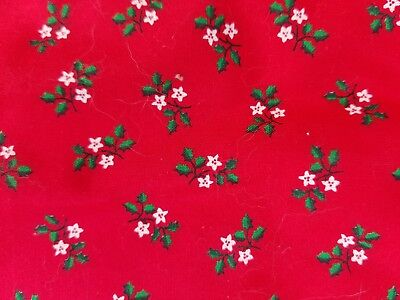 "NEW Christmas Tree Skirt (40"") With Matching Stocking Red Green Holly SET of 2"