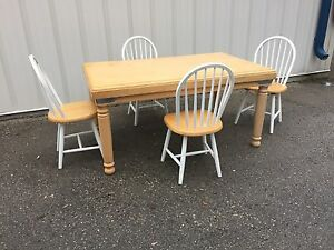 Solid wood table with 4 chairs