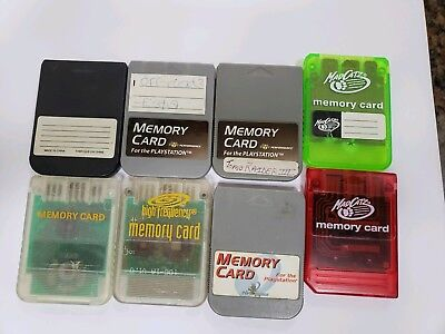 Playstation 1 2 Memory Card PS2 PS1 Madcatz 8mb Sony Lot Of 8