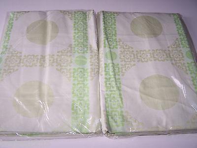 Quelle  Vintage 70er Jahre 2x Bettwäsche 135/200 80/80 grün  B123/5