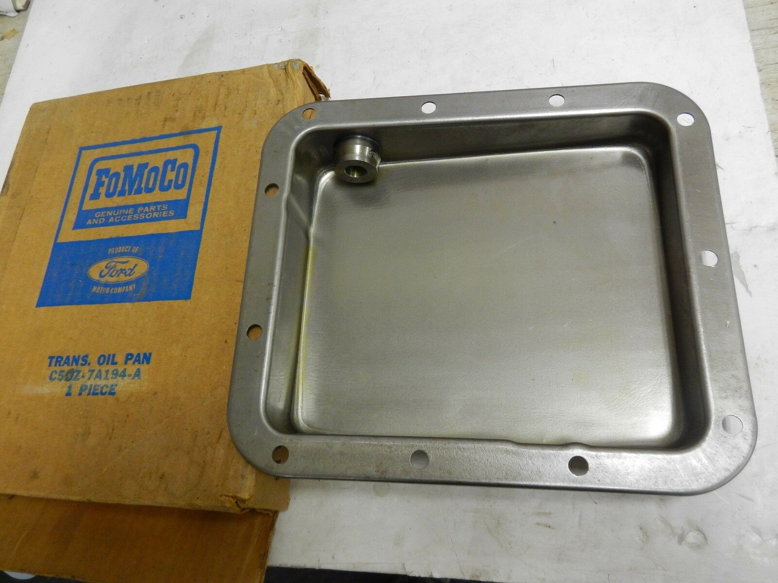 Transmission oil pan, 1965/69 Ford Galaxie w/C4 NOS