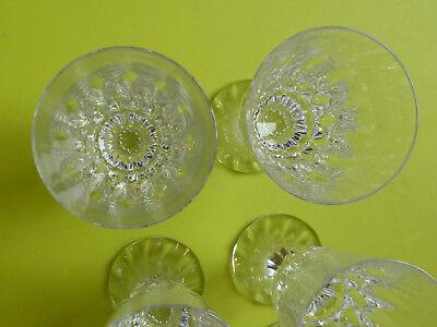 6 verres à vin blanc en cristal de baccarat modèle assas  ref 739b