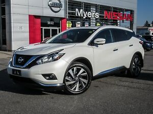 2017 Nissan Murano PLATINUM, NAVIGATION, LEATHER SEATS, MOONROOF