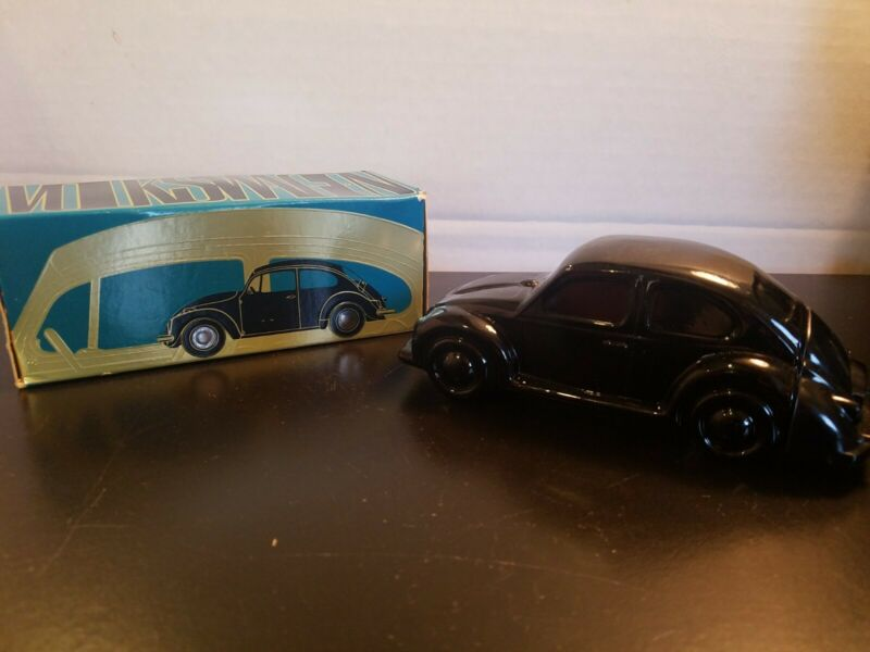 Vintage Avon Black Volkswagen Electric Pre Shave Lotion Decanter VW Bug Beetle