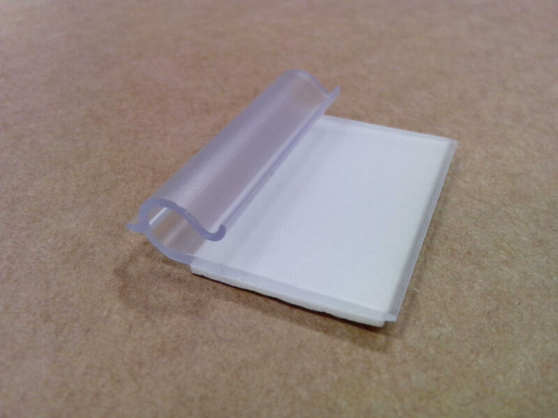 """(500) Tyco/Deklip DEK-024-0020 - 3/16"""" Wire Routing Clips - Adhesive backed"""