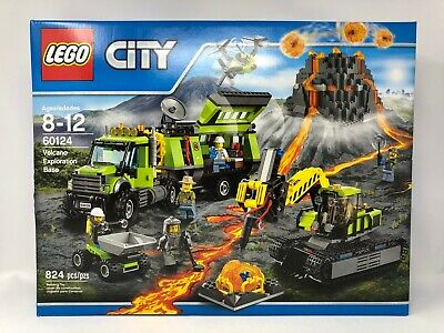 LEGO City Volcano Exploration Base 60124 New, Sealed, DAMAGED BOX, FREE Shipping