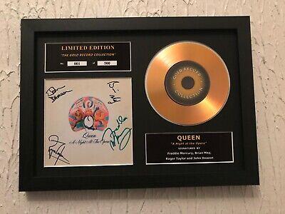 Queen Signed Gold Disc Album Ltd Edition Framed Picture Memorabilia