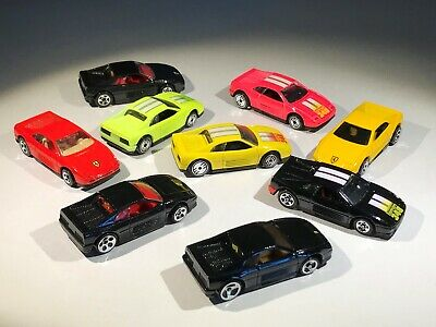Hot Wheels Ferrari 348 Lot of 9 Loose