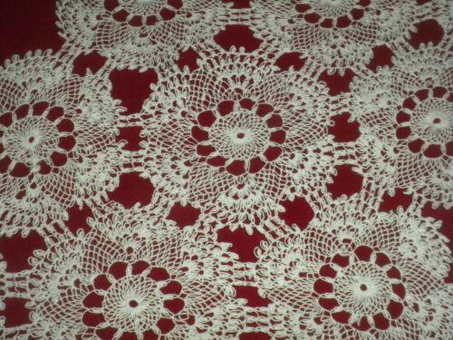 Vintage White Cotton Armenian Handmade Needle Lace Doily*Code:a847**