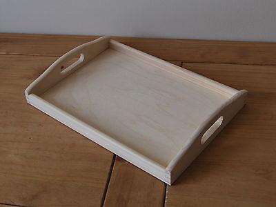 Plain Wood - Wooden Serving Tray 35cmx25cmx 5.5cm For Decoupage