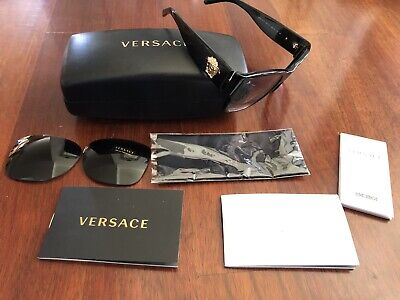 Authentic VERSACE Sunglasses VE4275 POLARIZED Black With RX Lens