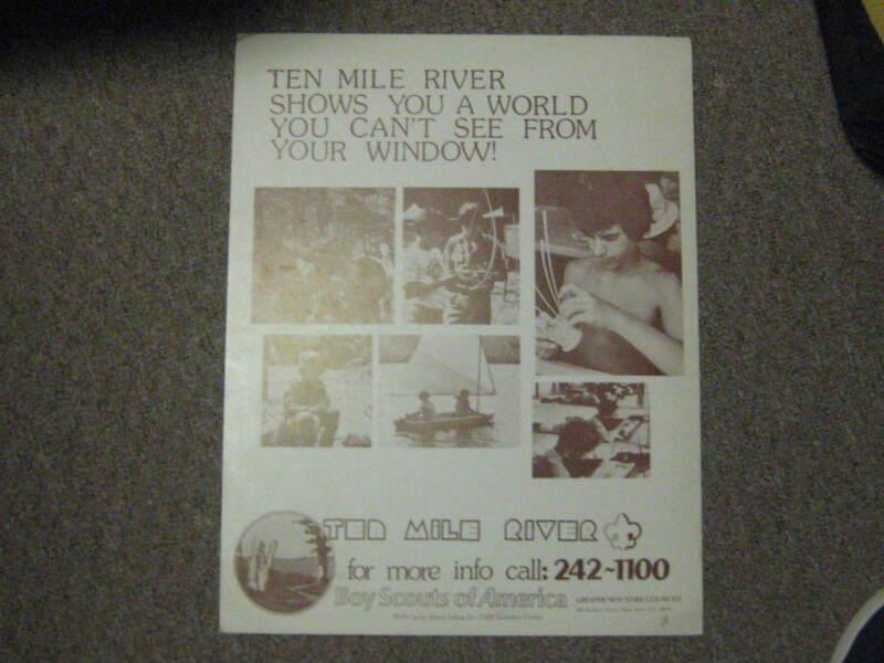 Ten Mile River Summer Camp Poster, Lot of 7, older     cp