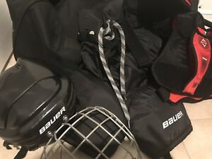 Boys hockey gear plus hockey bag