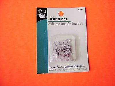 Dritz 10 pk Twist Pins - Secures Furniture Slipcovers, Arm Covers, & Bed Covers for sale  Shipping to India