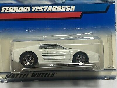 2000 HOT WHEELS BLUE CARD FERRARI TESTAROSSA  #136