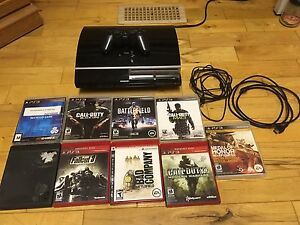 40GB PlayStation 3 (1 controller, 9 games)
