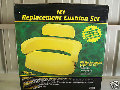Fit John Deere 4020 Yellow Seat 3 Piece Cushion Set 2510 3010 3020 4010 4430 Be