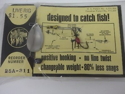 Rare Keel Guard Fishing Lure Live Rig 25A 311 Trout Bass Collectible