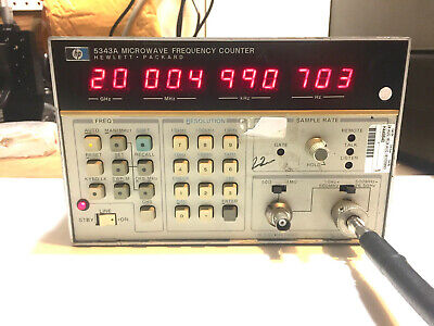 Hp Agilent 5343a Microwave Frequency Counter Opt 011 Tested