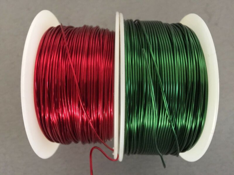 MAGNET WIRE 20 AWG 400 ft  RED and green