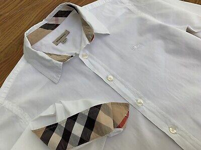 Burberry Long Sleeve White Shirt Top Kids 10 12 Y Women's XXS