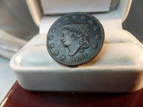 1833 MATRON  HEAD  Large Cent   Nice # C 1481