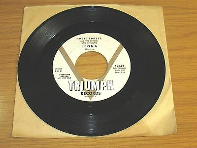 Promo Vocal Group Rock   Roll 45 Rpm   Eddie Cooley   The Dimples   Triumph 609