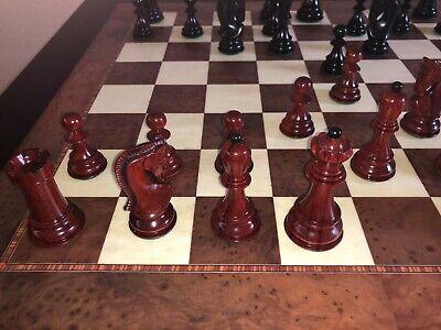 HOS 1959 Zagreb Prestige Chess Pieces Ebony Blood Rosewood 3.875