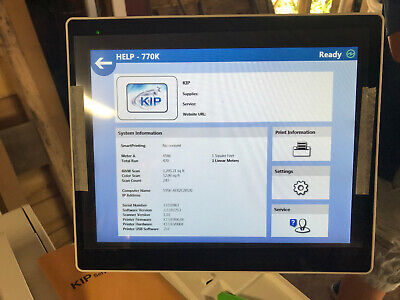 Kip 770k Demo Unit Wide Format Copier Printer Scanner