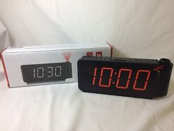 DreamSky Projection Alarm Clock Radio & USB Charging Port New/Opened Box E072 R