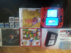 2ds with 10 games with box charger, skin