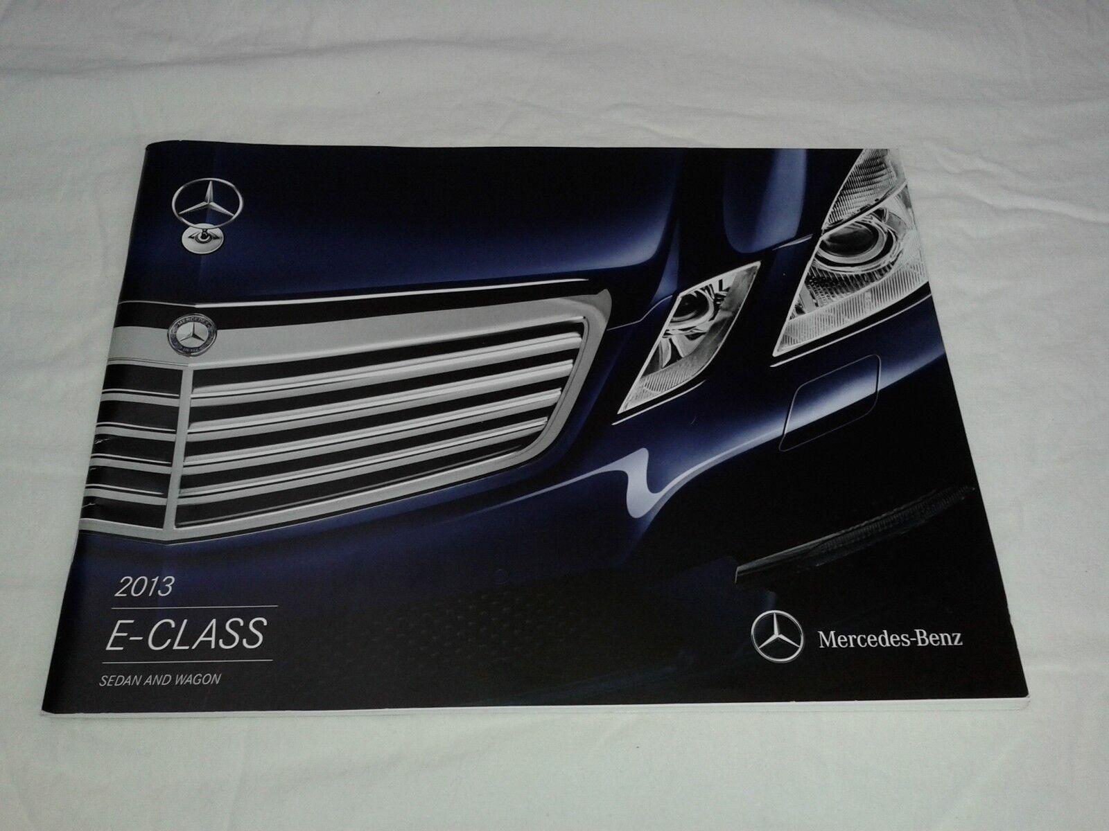2013 Mercedes Benz E-Class Sedan & Wagon Sales Brochure Catalog