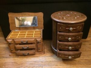 Vintage wooden  jewelry boxes $20 ea
