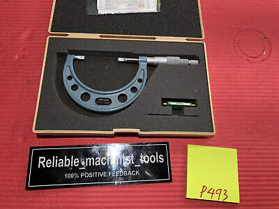 Excellent Mitutoyo 2-3 Inch Blade Outside Micrometer 122-127 .0001 In Grad P493