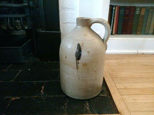 Antique Stoneware 1 gal Jug beautiful glaze with large turkey dropping