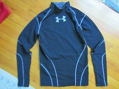Men's Under Armour Cold Gear -  long sleeve shirt - Black Large - gray stitching