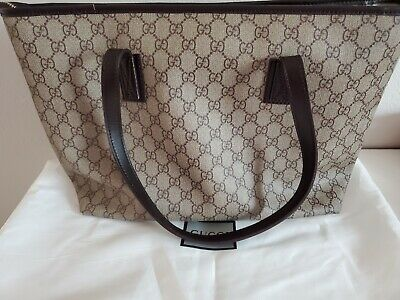 gucci canvas bag large size 14x10""