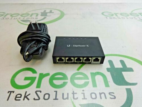 Ubiquiti ER-X 5-Port Gigabit Wired Router w Adapter